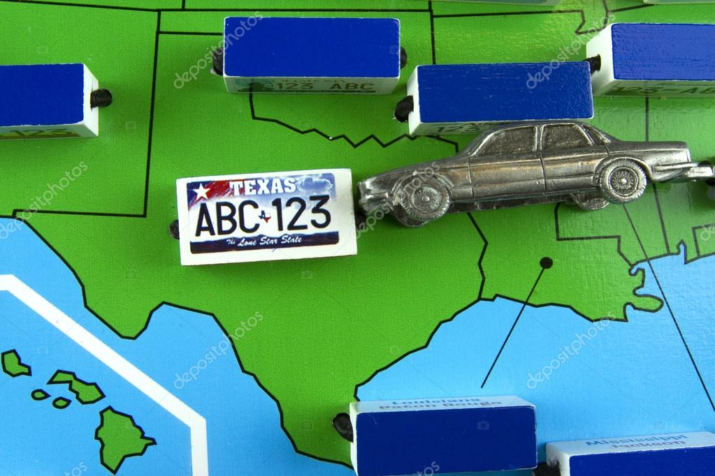 License Plate State Map.Car With License Plate On Texas State Map Stock Editorial Photo