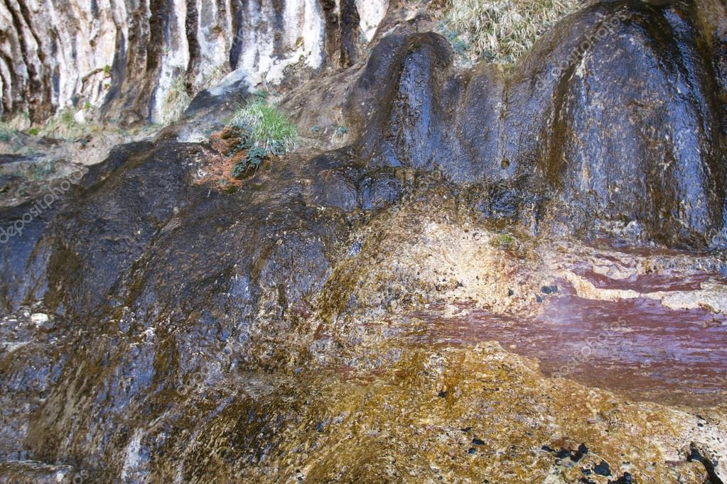 Abstraction in Color and Texture from Wet Rock