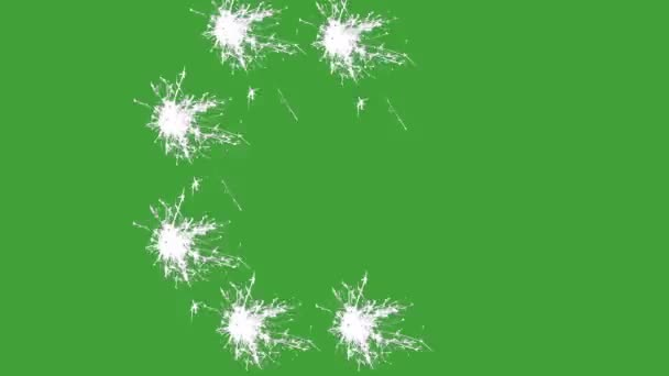 C, prskavka, zelená obrazovka