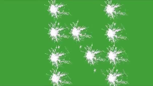 N, prskavka, zelená obrazovka