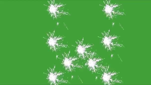 W, prskavka, zelená obrazovka