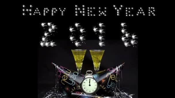 Šťastný nový rok, banner, toast