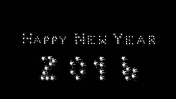 happy new year 2016 banner black stock video