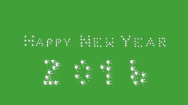 Šťastný nový rok, 2016, banner, zelená obrazovka