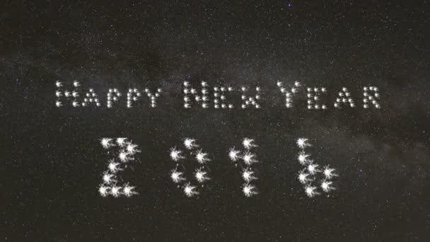 Šťastný nový rok, 2016, banner, Mléčné dráhy