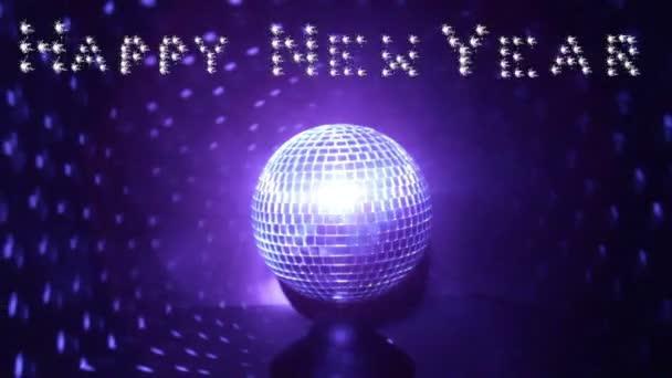 Boldog új évet, banner, disco labdát