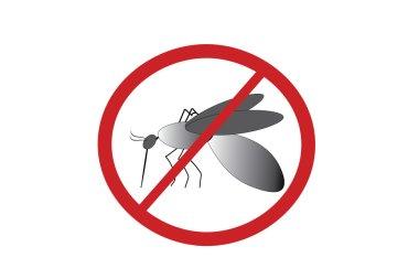 Mosquito silhouette with Eradication symbol
