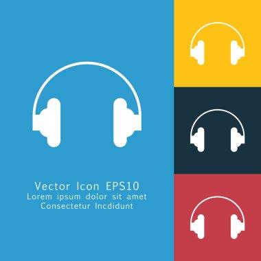 Solid headphones icon