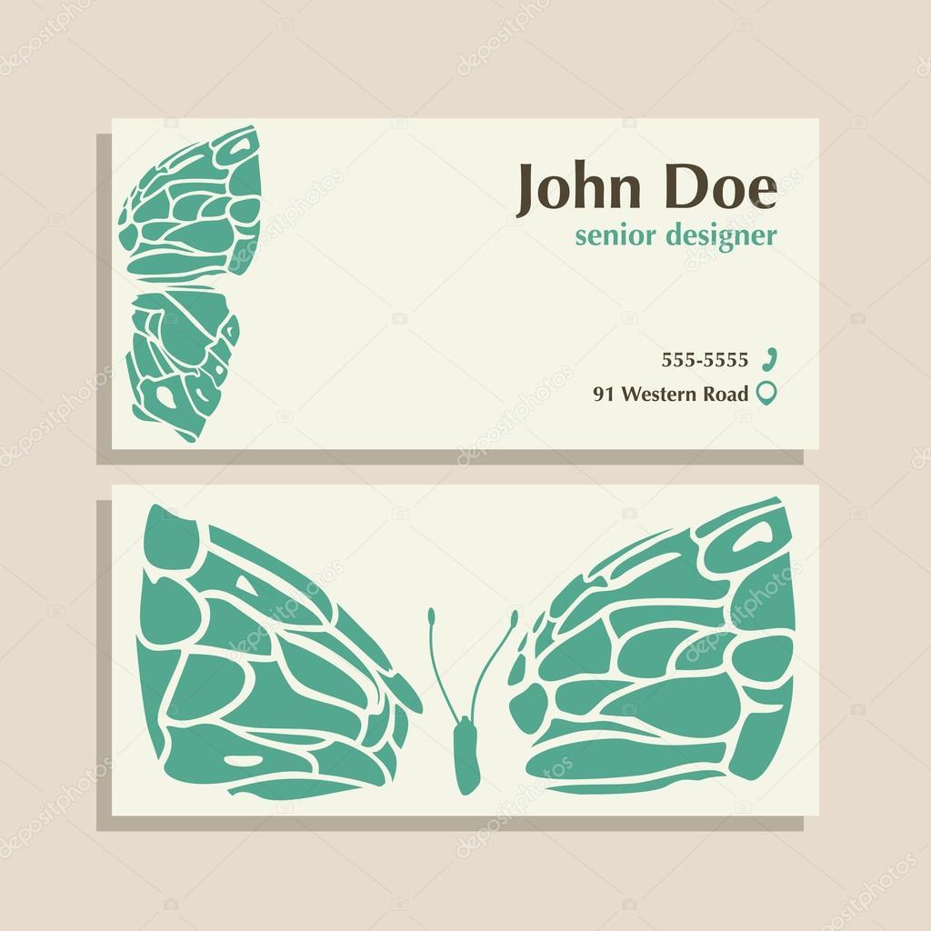 Estudio de diseño, salón de belleza plantilla de diseño de tarjeta ...