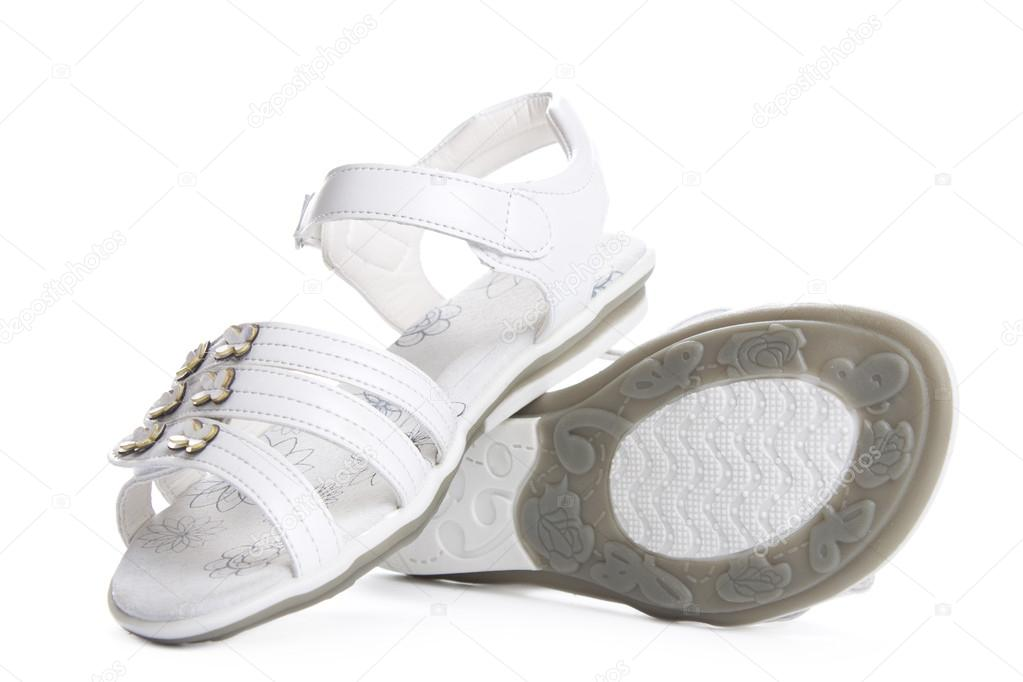 ec98f76dd Shoes for girls isolated over a white background. — Photo by Vladakela