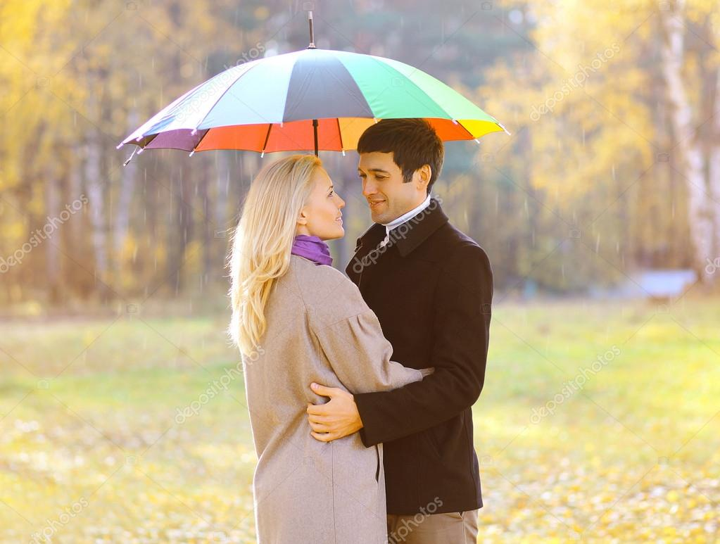 Autumn, love, relationships and people concept - lovely pretty c