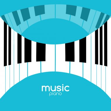 Music festival poster background. Musical jazz concert piano music cafe promotional poster