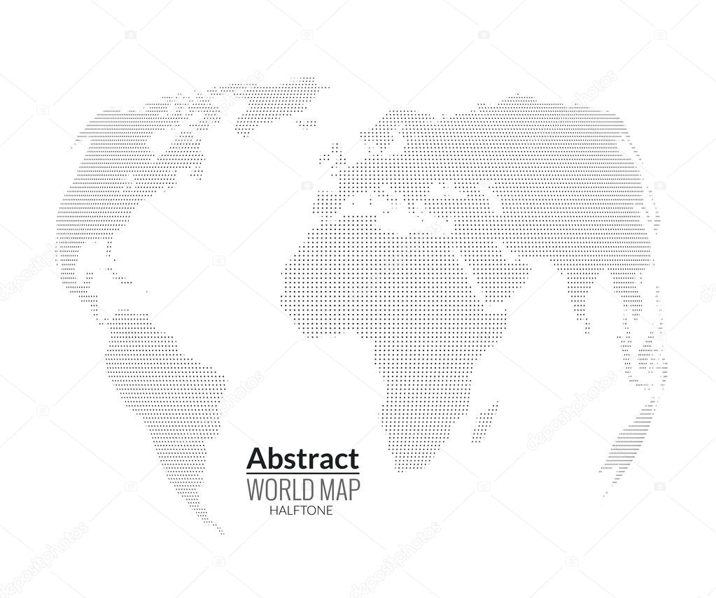 3d abstract world map planet dots global halftone concept 3d abstract world map planet dots global halftone concept vector de vasilyrosca gumiabroncs Gallery