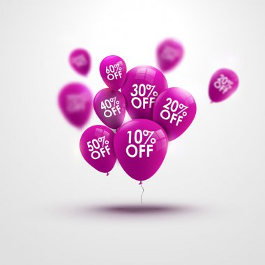 Trendy beautiful baloons and discounts