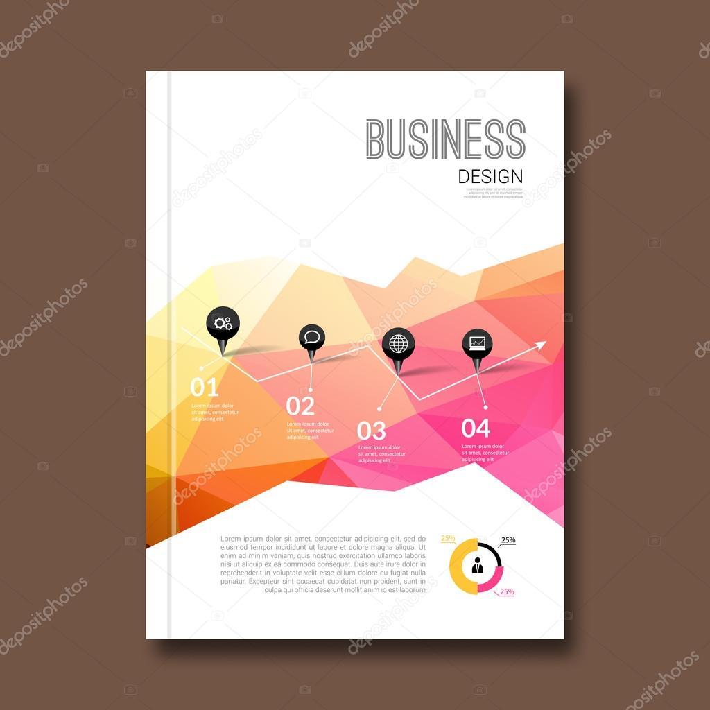 Business-Design-Vorlage. Broschüre Buch Flyer Magazin-Layout Mock ...