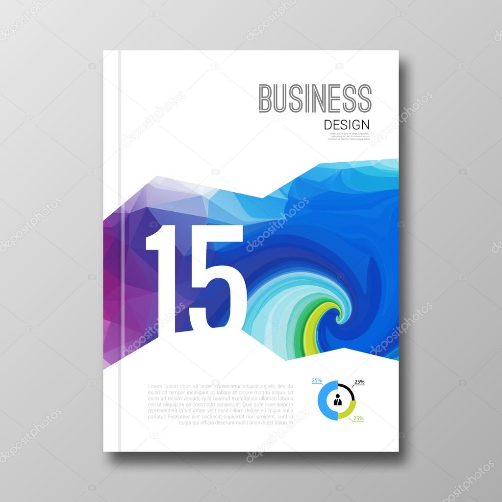 Plantilla de diseño de negocios. Tapa folleto libro flyer diseño ...