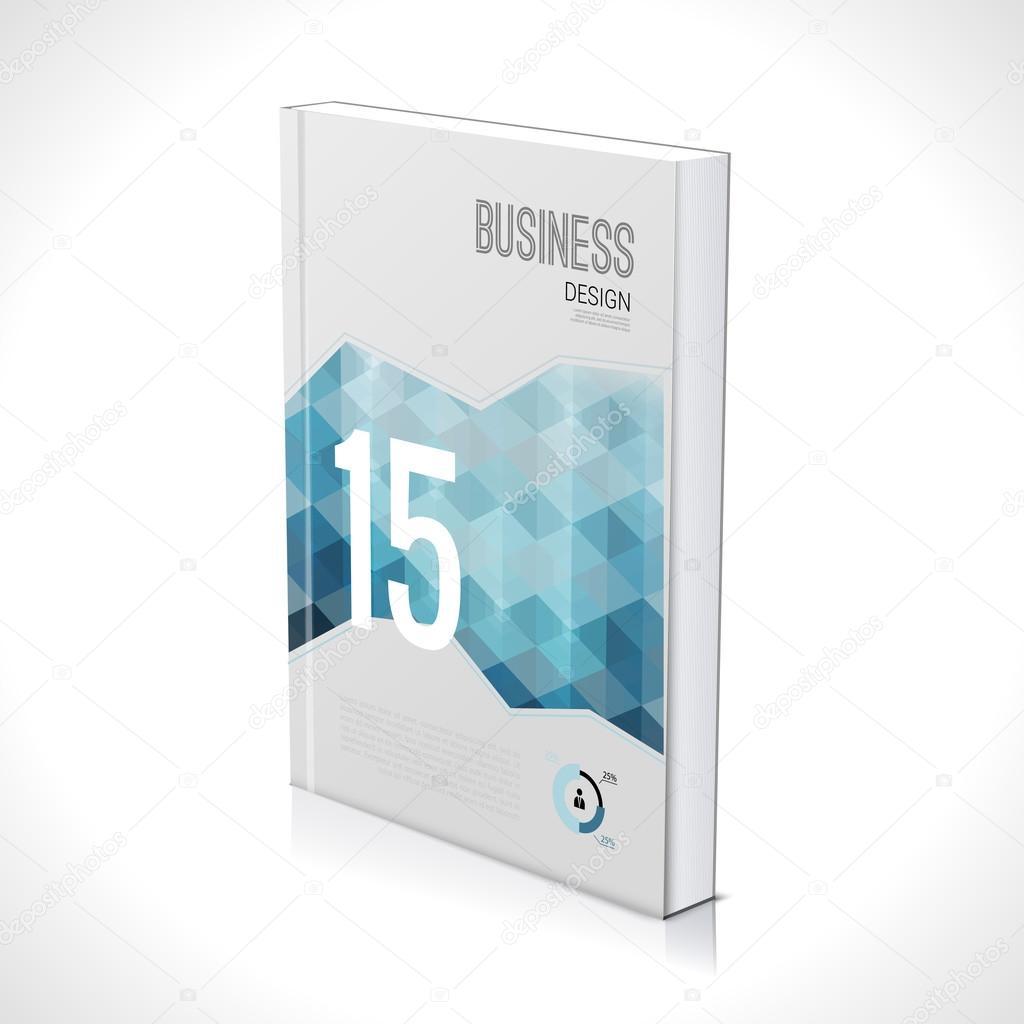 plantilla de diseño de negocios 3D. Tapa folleto libro folleto ...