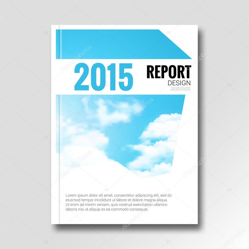 Cloud sky vector annual report cover brochure flyer magazine