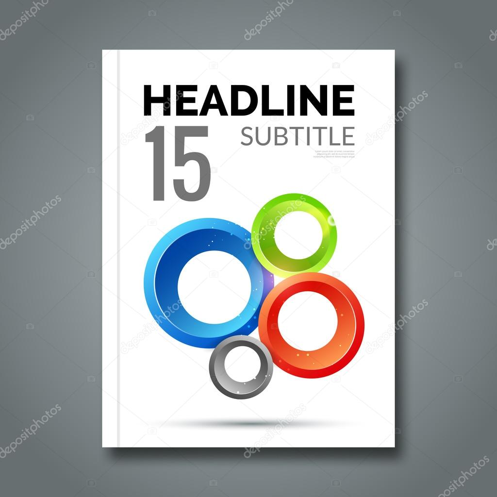 Magazine cover with circles for book brochure flyer poster for book brochure flyer poster booklet business card annual report vector by vasilyrosca reheart Images