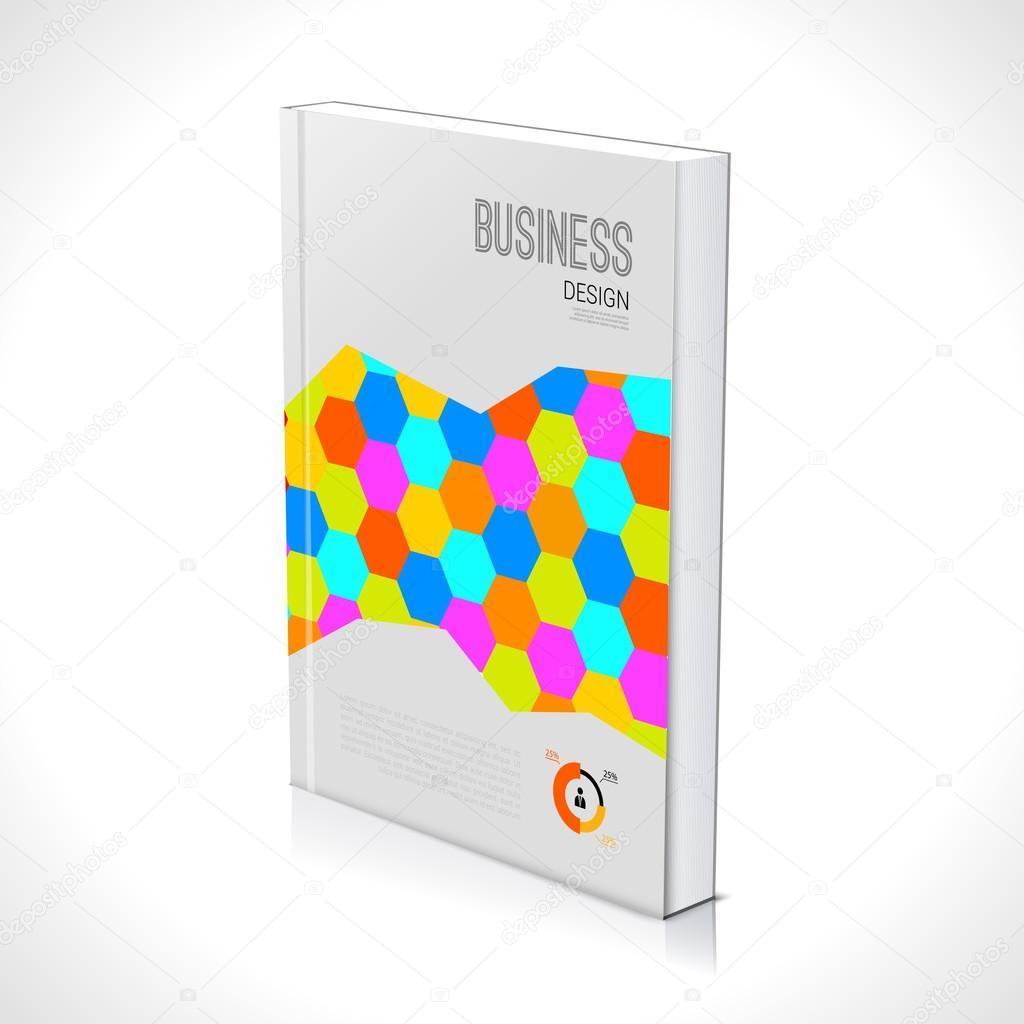 3D Business-Design-Vorlage. Broschüre Buch Flyer Magazin-Layout Mock ...