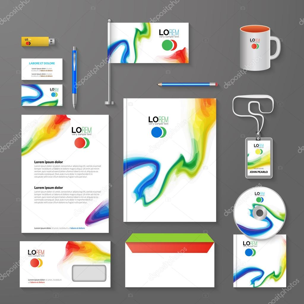 Abstract corporate business identity template layout pen cd cup abstract corporate business identity template layout pen cd cup letter folder business cards vector company triangle style for brandbook and reheart Image collections