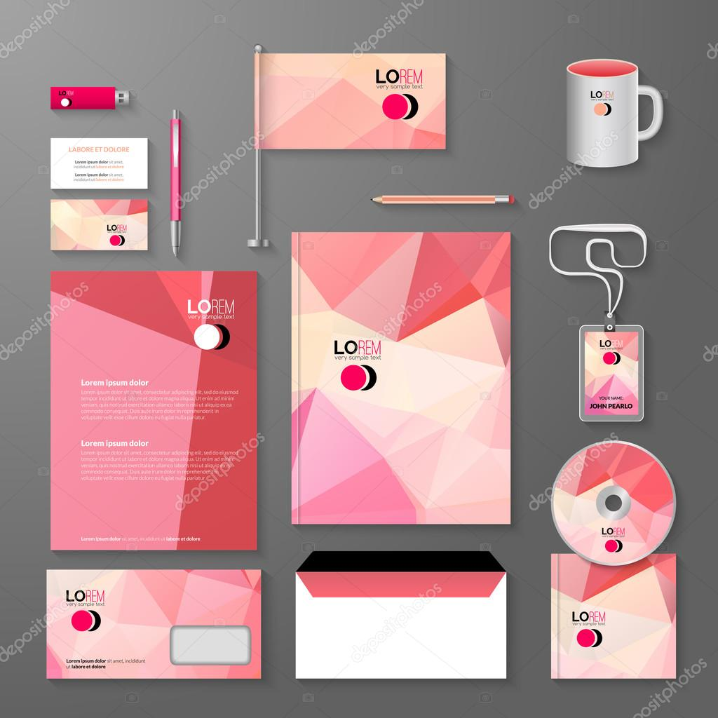 corporate brand business identity design template layout. letter