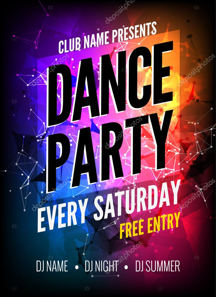 dance party poster template night dance party flyer club party