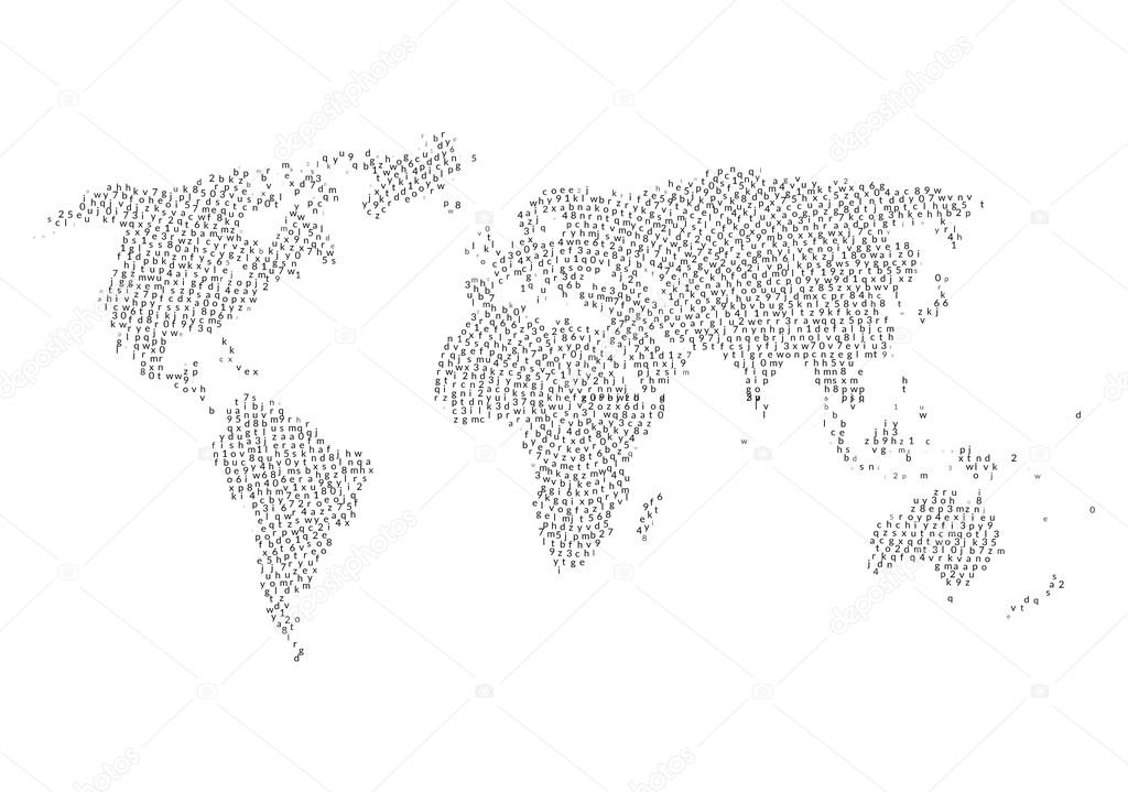 World map with letters inside letters cloud in world map shape world map with letters inside letters cloud in world map shape design vector de vasilyrosca gumiabroncs Images