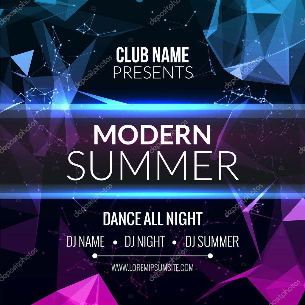 modern summer club music party template dance party flyer brochure