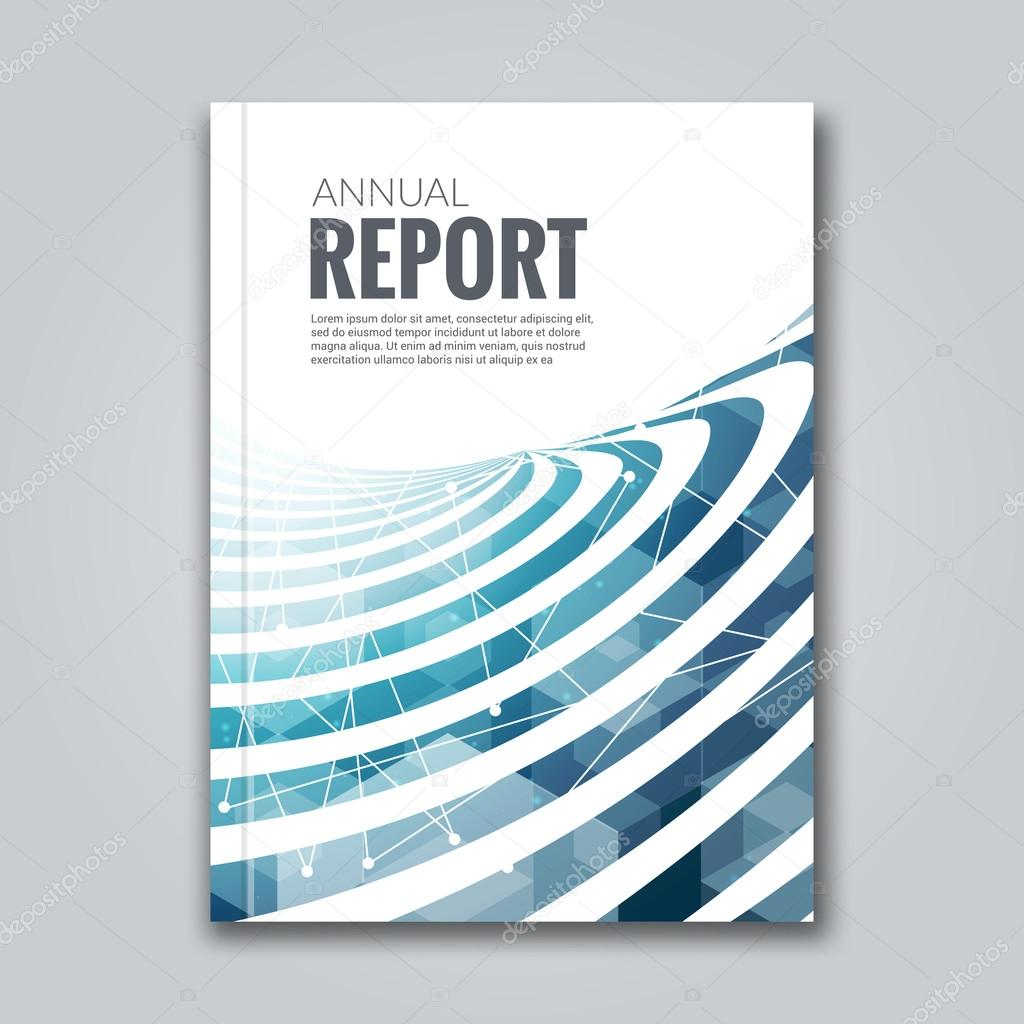 Business Deposit Book Cover : Cover report business colorful blue stripes triangle