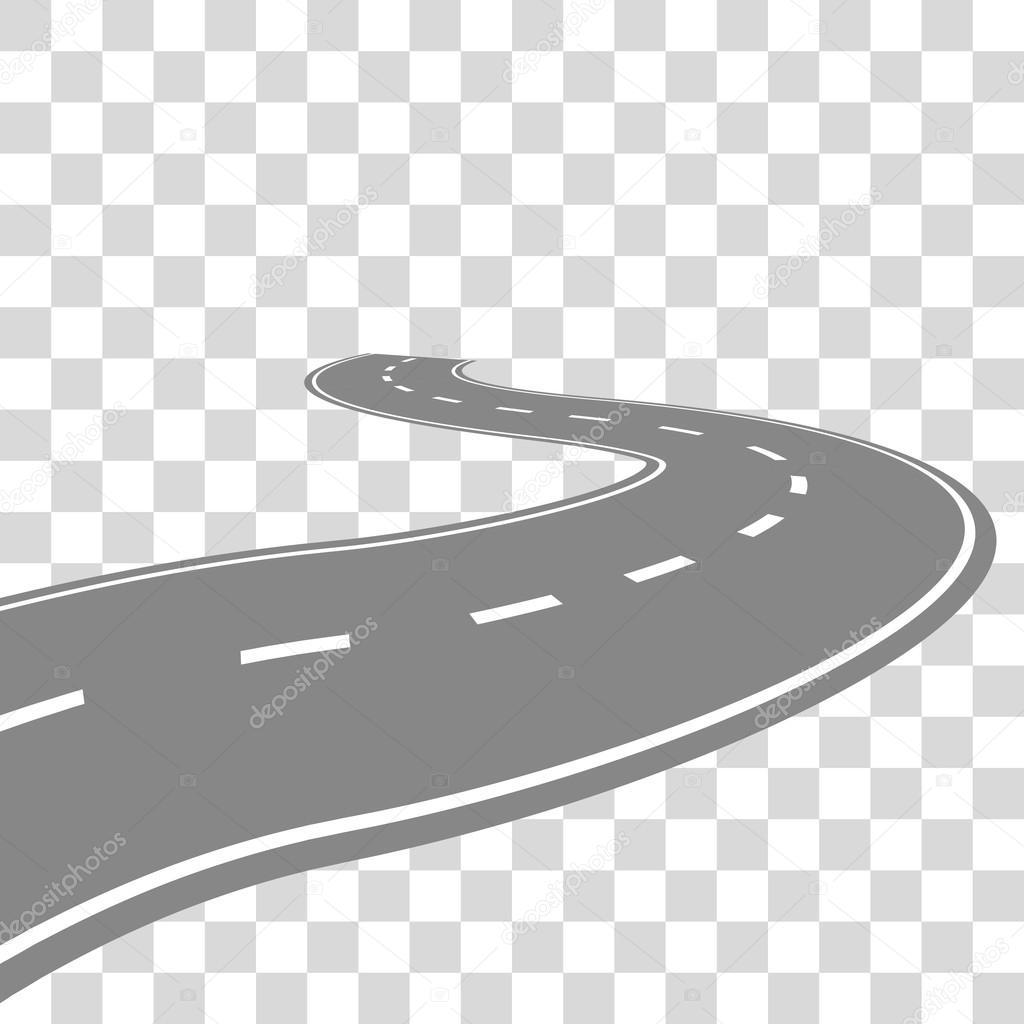 Courbe sinueuse route ou autoroute avec illustration de - Dessin de route ...
