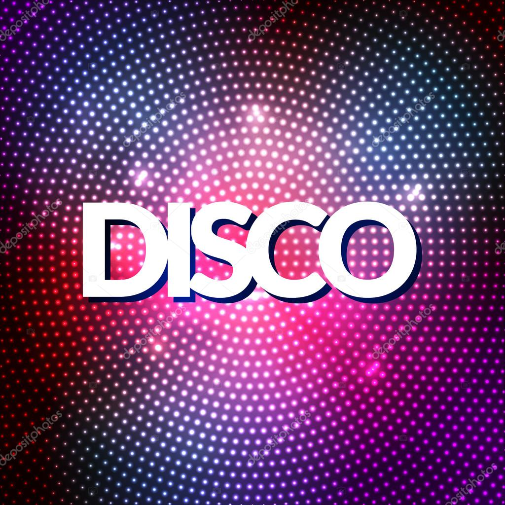 Disco Party Lights Gold Background Hot Dance Floor Vector Poster Club Sparkle