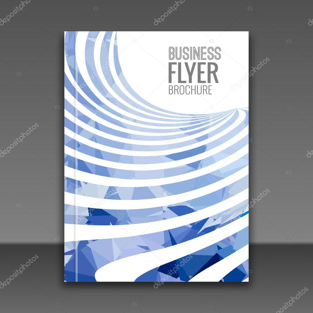 Business Deposit Book Cover ~ Cover report business colorful blue stripes triangle