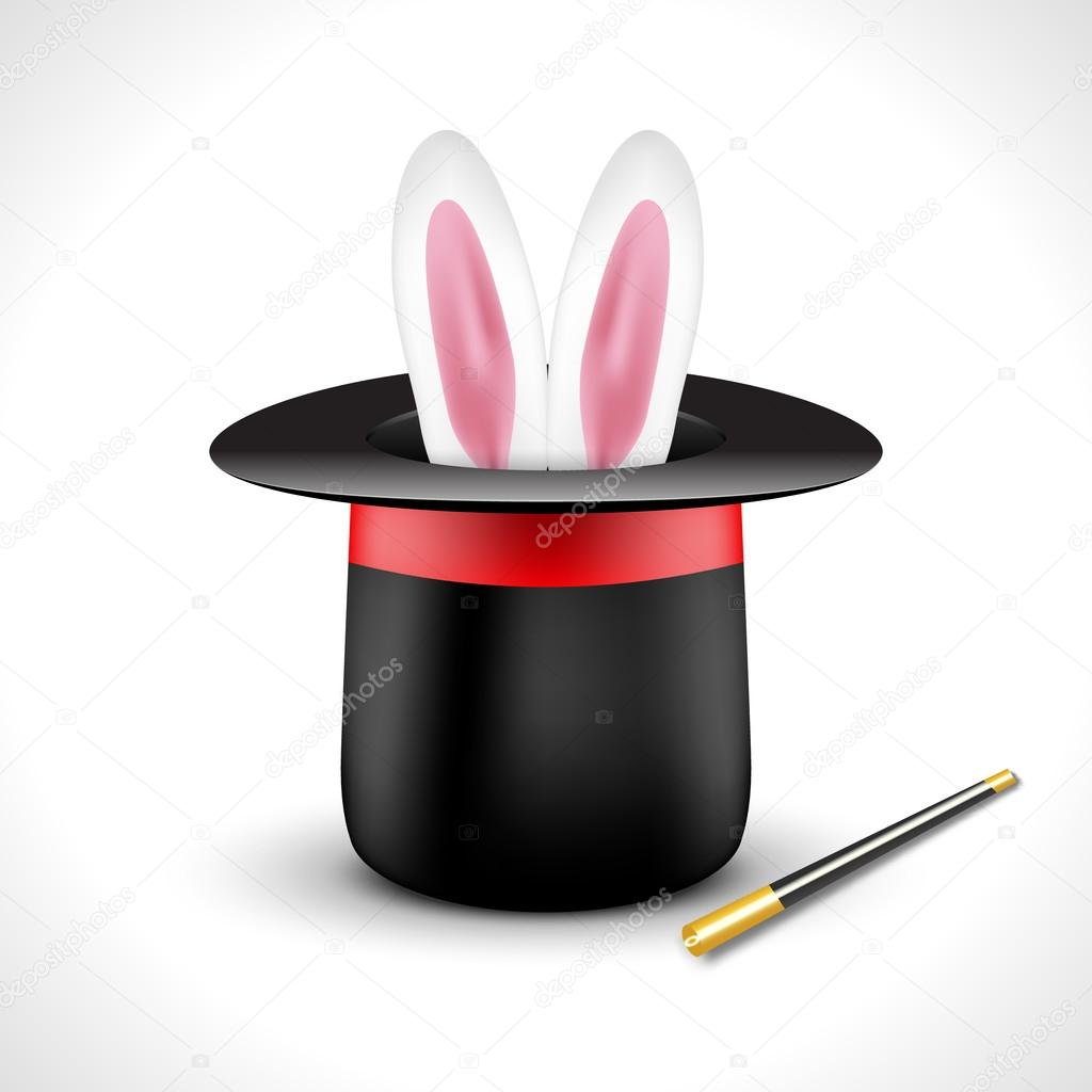 magic hat with bunny rabbit ears magic show perfomance design