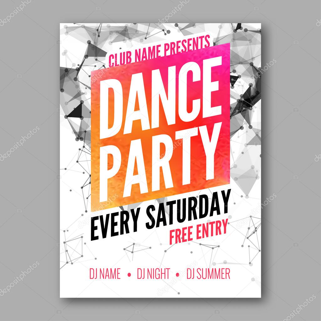 dance party poster template night dance party flyer dj session