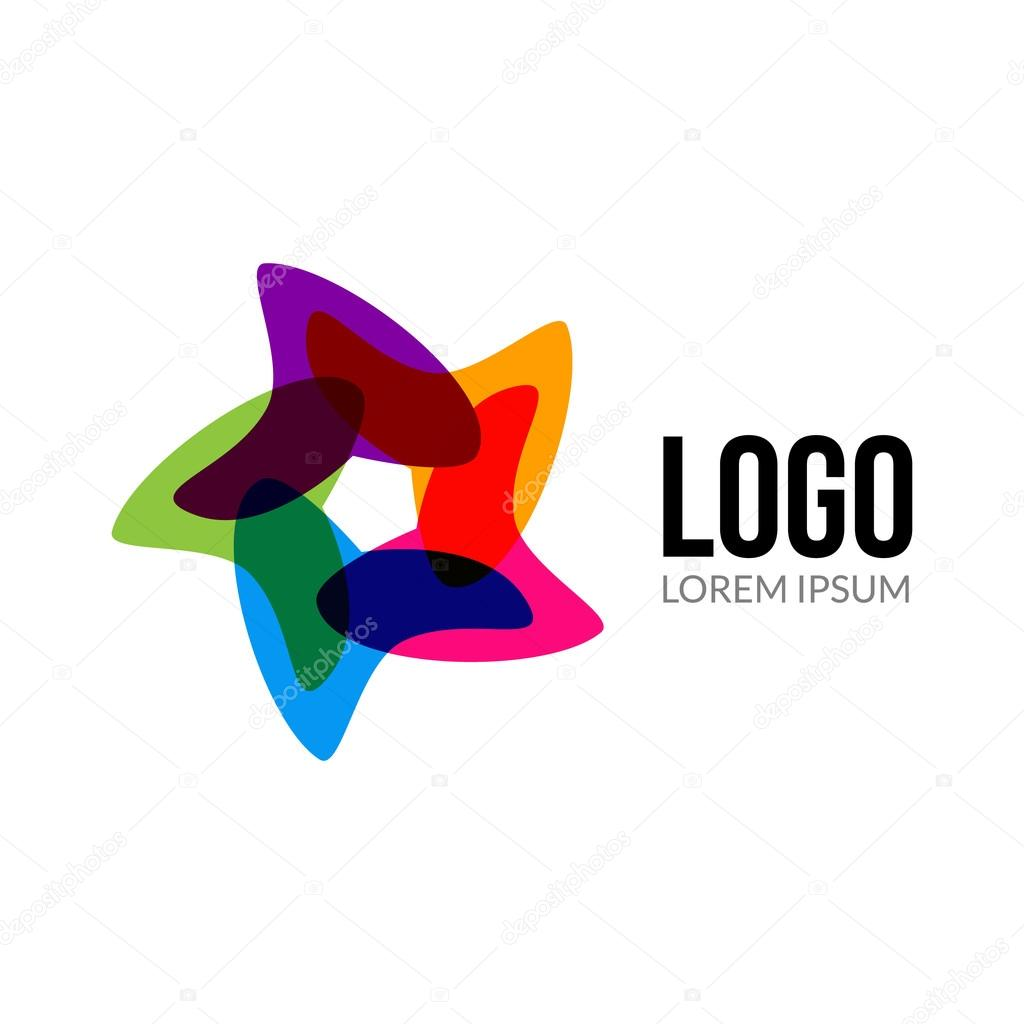 vector star logo template layout abstract colorful star creative