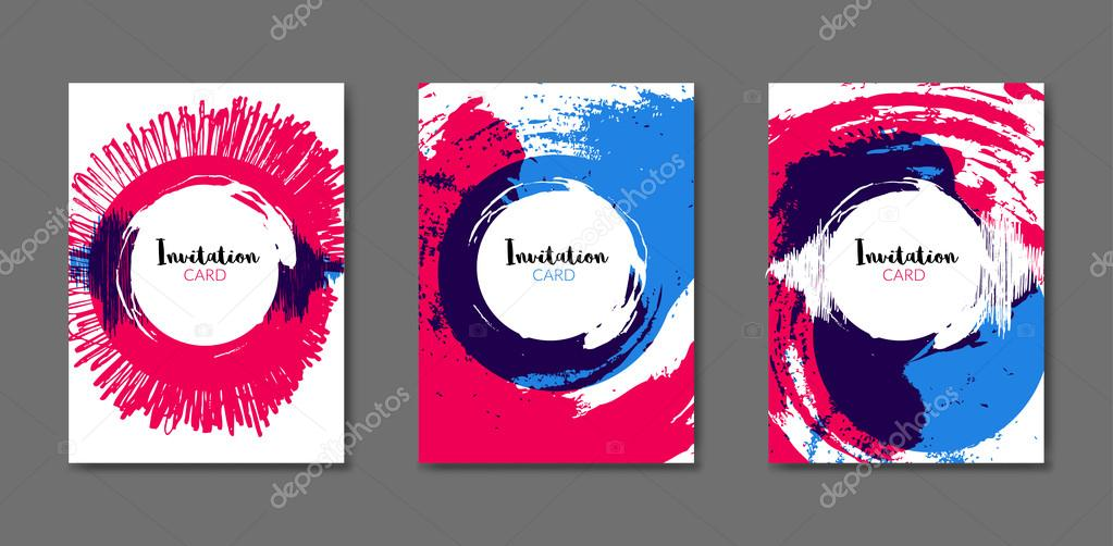 art flyer brochure design template book cover mockup artistic