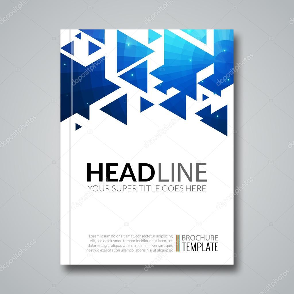 Cubierta Informe triángulo colorido folleto geométrica diseño fondo ...