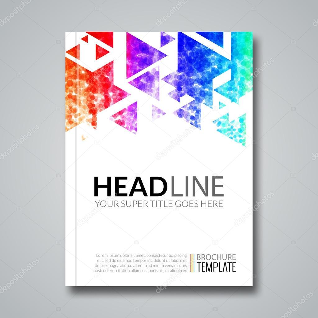 Decken Sie, Bericht bunten geometrischen Prospekt Design-Hintergrund ...