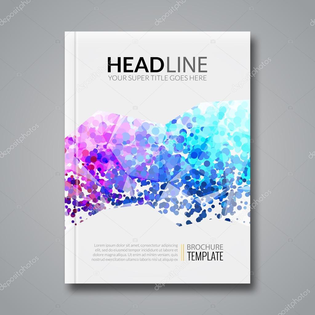 Diseño del informe de negocio, plantilla de flyer, fondo con ...