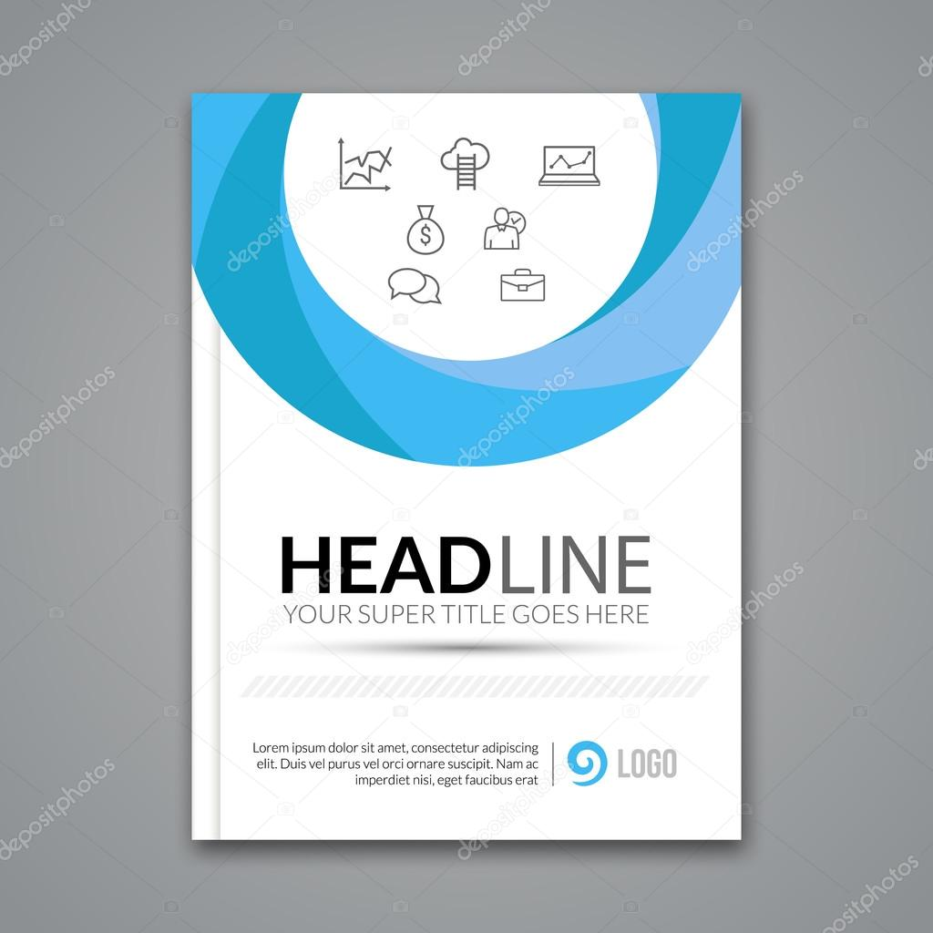 modern simple circle vector template for business brochure report