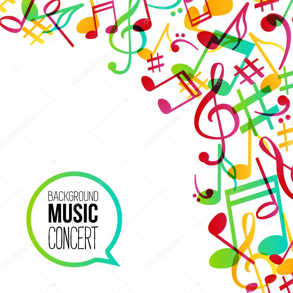 music background musical background with musical notes vector rh depositphotos com Music Note Background Designs Vintage Music Notes Background
