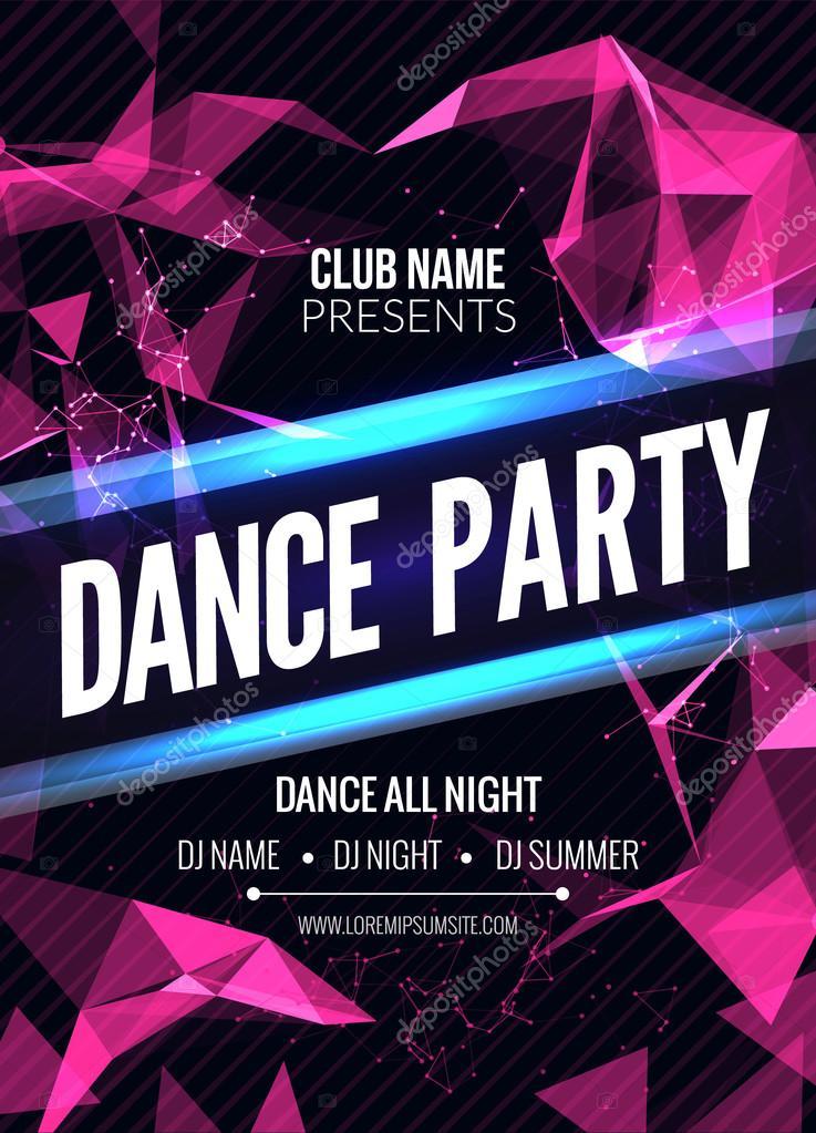 Moderne Club Musik Party Vorlage, Dance Party Flyer, Broschüre ...