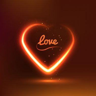Dark background with glowing heart for my Valentine Valentines day. Great Love