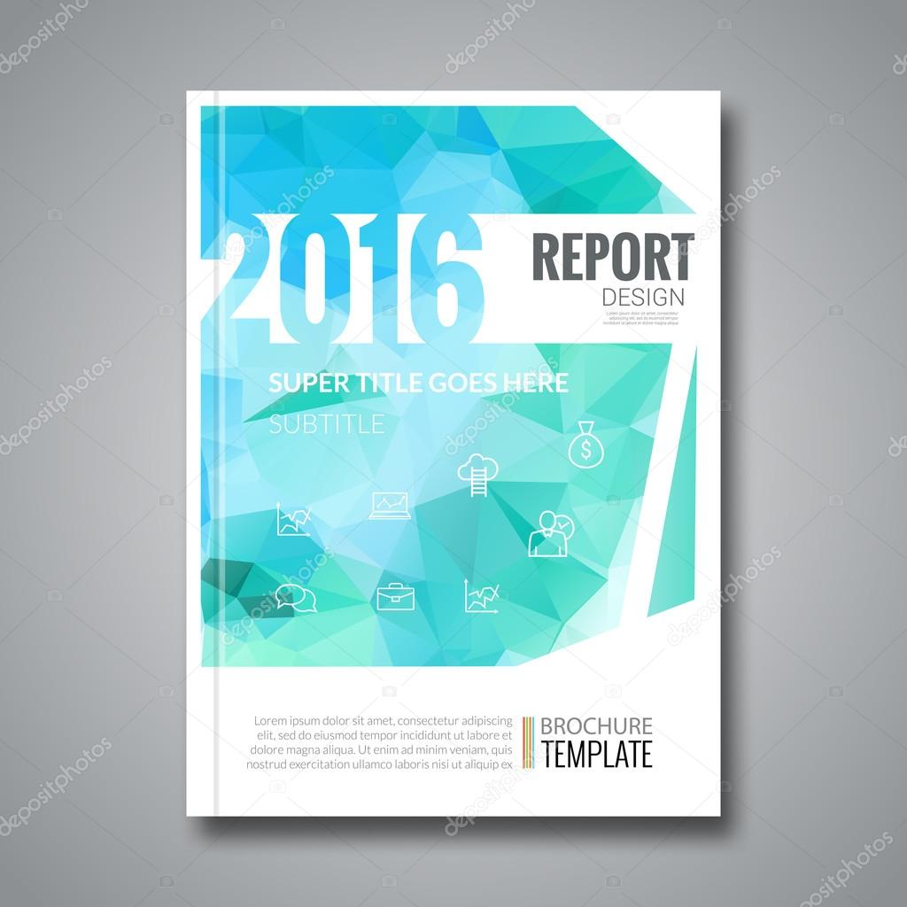 Business Design Cover Magazine Infographic Background Aqua Marine - Annual report design templates 2016