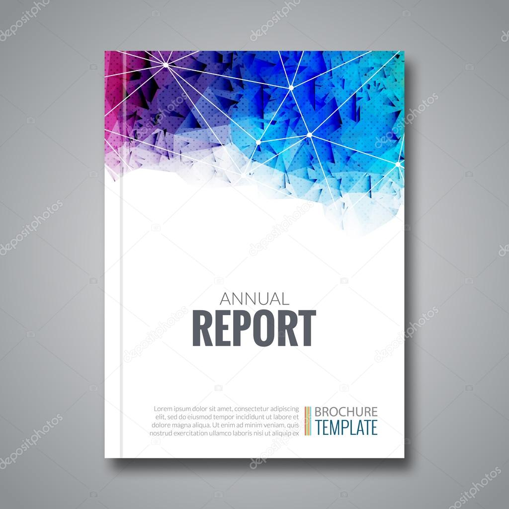 Business Deposit Book Cover ~ Cover report business colorful triangle polygonal
