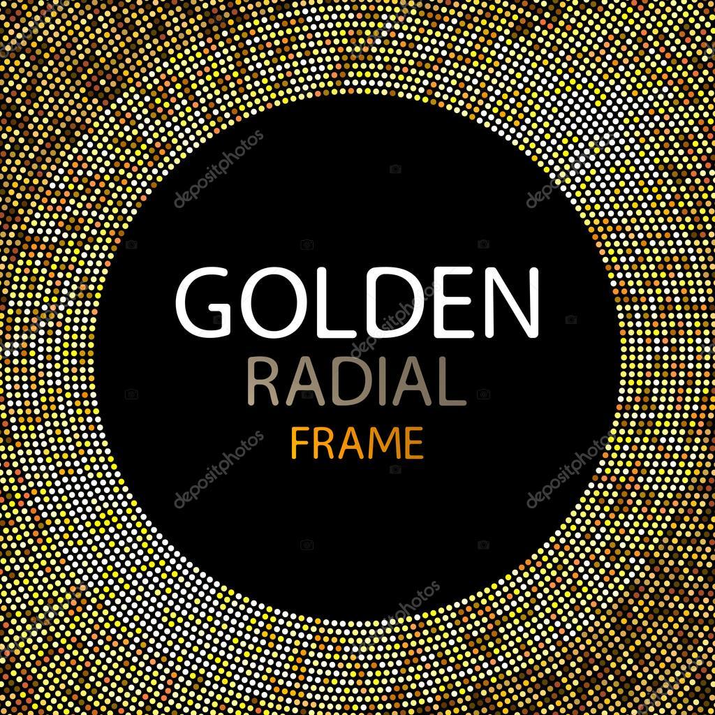 Marco de luces de discoteca oro vector o lentejuelas redonda marco ...