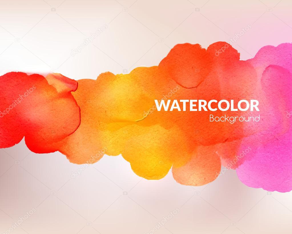 Aquarell Bunten Hintergrund Vektor Illustration Wasser Nasses