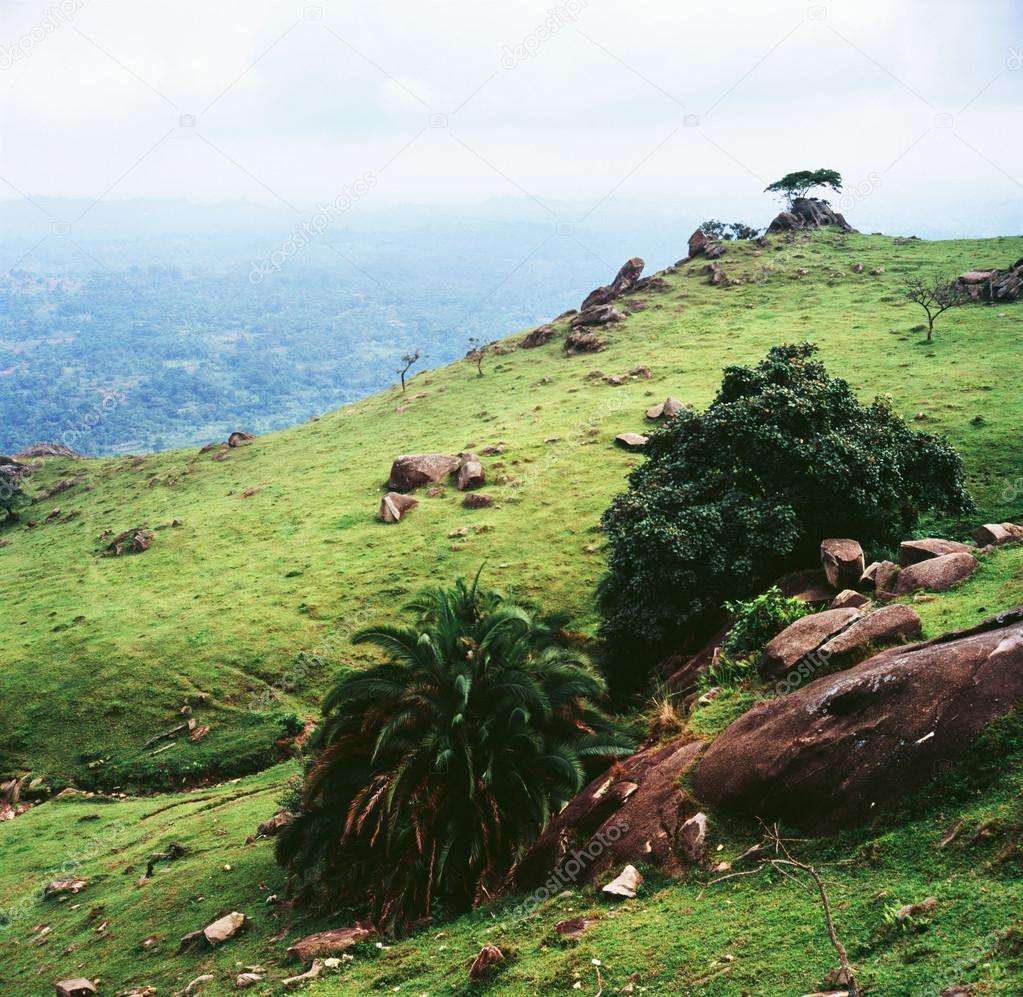 African mountains beautiful landscape