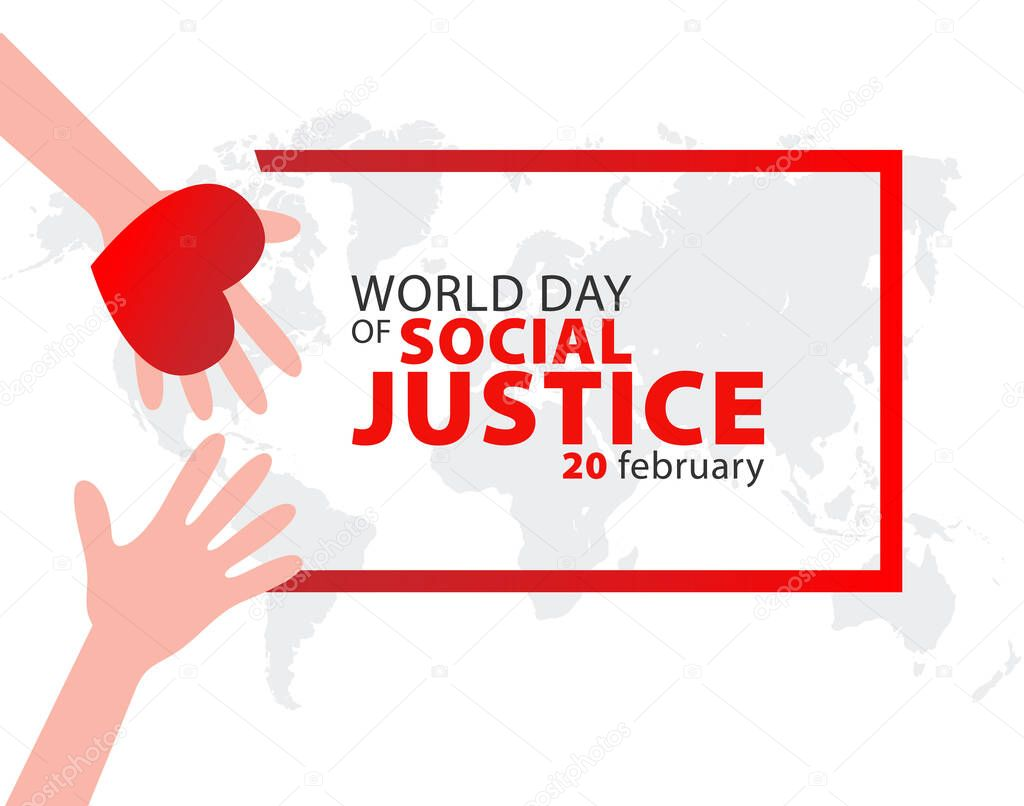 World Day of Social Justice on February 20 Background icon